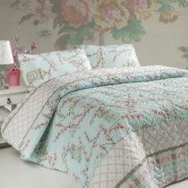 Pléd cez posteľ na dvojlôžko s obliečkami na vank&am...