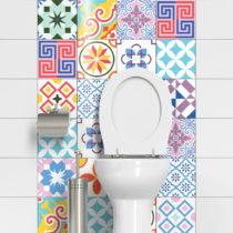 Sada 24 dekoratívnych samolepiek na stenu Ambiance Cheerful, 15×&#xA...