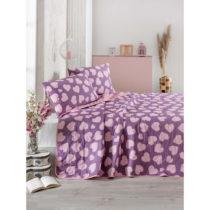Fialovo-ružová prikrývka cez posteľ na dvojlô&#x1...