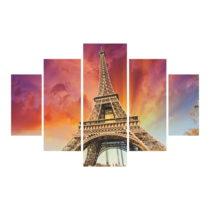 5-dielny obraz Eiffel