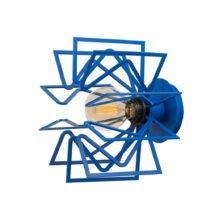Modrá nástenná lampa Radius