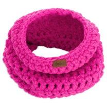 Ružový ručne háčkovaný kruhový &am...