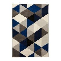 Koberec s modrými detailmi Kokoon Muoto, 160×230 cm