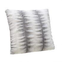 Bielo-sivý vankúš InArt Furry, 40 x 40 cm