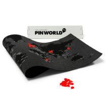 Čierna nástenná mapa sveta Palomar Pin World, 126×&am...