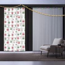 Vianočný záves Snowflake Star, 140 x 260 cm