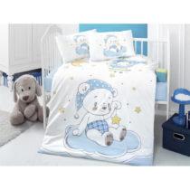Set bavlnenej detskej obliečky s plachtou Night Bear, 100 × 150 cm