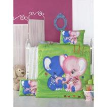 Set bavlnenej detskej obliečky s plachtou Elephants, 100 × 150 cm