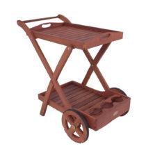 Záhradný servírovací vozík z eukalyptového dre...