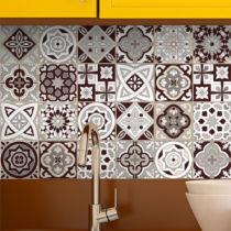 Sada 24 nástenných samolepiek Ambiance Wall Stickers Tiles Amazonas, 15&...
