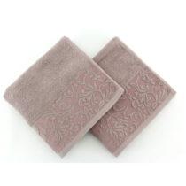 Sada 2 bavlnených hnedých uterákov Burumcuk, 50×&#...