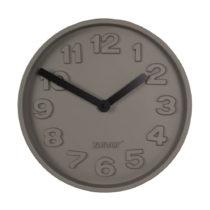 Betónové nástenné hodiny s čiernymi ruči&...