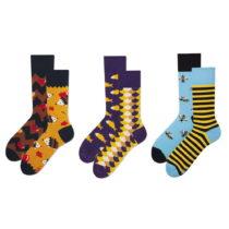 Sada 3 párov ponožiek v darčekovom balení Many Mornings Fauna,...