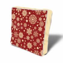 Červený podsedák so zimnou tematikou, 43×43...