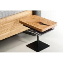 Nočný stôl z olejovaného dubového dreva Mazzivo Moon