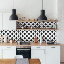Sada 9 nástenných samolepiek Ambiance Wall Decal Tiles Enzo, 10&#xD7...