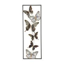 Kovová nástenná dekorácia Mauro Ferretti Butterflies