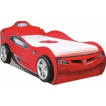 Červená detská posteľ v tvare auta s úložn&...