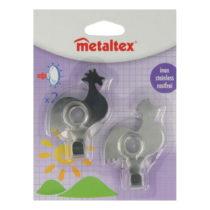Sada 2 ks háčikov v tvare kohúta Metaltex, dĺžka 8 c...