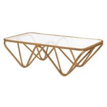 Ratanový konferenčný stolík so sklenenou doskou RGE Jura, 75 x ...