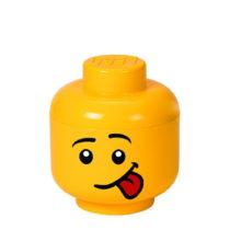 Žltý úložný box v tvare hlavy LEGO® Silly, &...