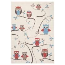 Detský červeno-hnedý koberec Zala Living Owl, 140×&am...