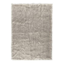 Sivohnedý koberec z umelej kožušiny Mint Rugs, 170×&...