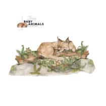 Nástenná samolepka Dekornik My Little Wild Cat, 160 x 75 cm