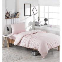 Obliečky s plachtou na jednolôžko Cute Pink, 160 x 220 cm
