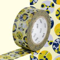 Žlto-modrá washi páska MT Masking Tape Succulent