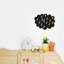 Čierna nástenná popisovateľná samolepka Chalk Cloud