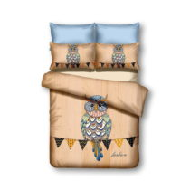 Obojstranné obliečky z mikrovlákna DecoKing Owls Autumnstory, 135&#x...