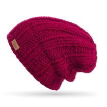 Vínovočervená ručne pletená čiapka DOKE Min...