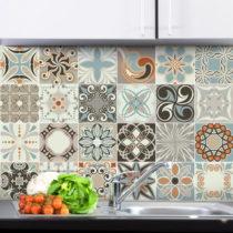 Sada 24 nástenných samolepiek Ambiance Wall Stickers Cement Tiles Rumba, 15&#x...