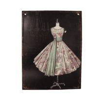 Plechová ceduľa Antic Line Prom Dress