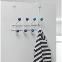 Modrý vešiak na dvere s 8 háčikmi Compactor Colorful