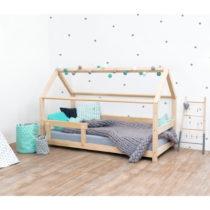 Prírodná detská posteľ s bočnicami zo smrekov&#xE...