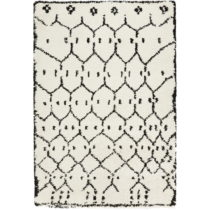 Bielo-čierny koberec Mint Rugs Allure Ronno White, 80 x 150 cm