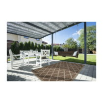 Hnedý vysokoodolný koberec vhodný do exteriéru Floorita Intrecci...