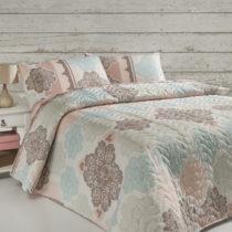 Sada prešívanej prikrývky cez posteľ a vankú&#x16...