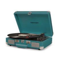Tmavotyrkysový gramofón Crosley Cruiser Deluxe