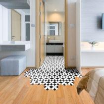Sada 10 samolepiek na podlahu Ambiance Floor Stickers Hexagons Bernardo, 40×&...