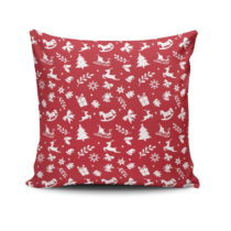 Vankúš Red&White Xmas Pattern, 45x45 cm