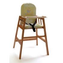 Hnedá drevená detská jedálenská stolička Fakt...