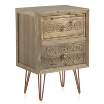 Nočný stolík s 2 zásuvkami Geese Lisboa