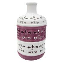 Fialovo-biela porcelánová váza Mauro Ferretti Alto