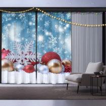 Sada 2 vianočných závesov Christmas Sparkle
