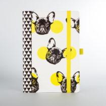 Zápisník s motívom psov Just Mustard Dog