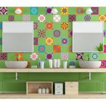 Sada 60 dekoratívnych samolepiek na stenu Ambiance Flow, 15×15...