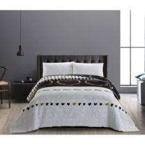 Obojstranný sivo-čierny pléd z mikrovlákna DecoKing Love, 240&a...